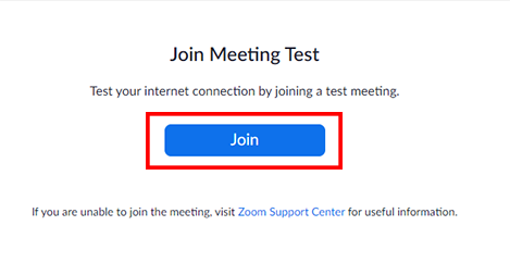 Join zoom test on desktop